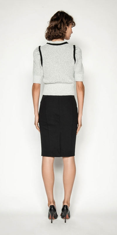 Skirts | Ticking Stripe Pencil Skirt