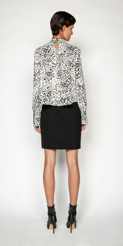 Skirts | High Waisted Suit Pencil Skirt