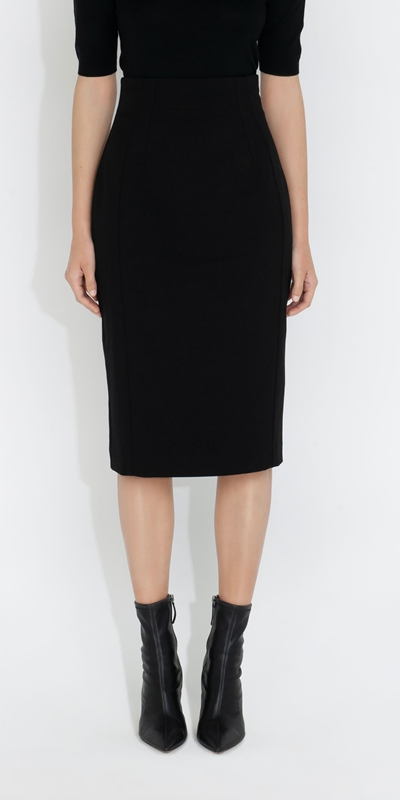 Cue Cares - Sustainable  | High Waisted Pencil Skirt