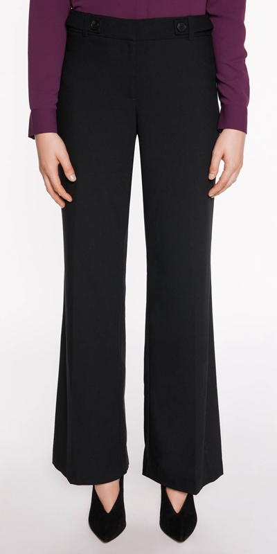 Pants  | Button Tab Wide Leg Pant