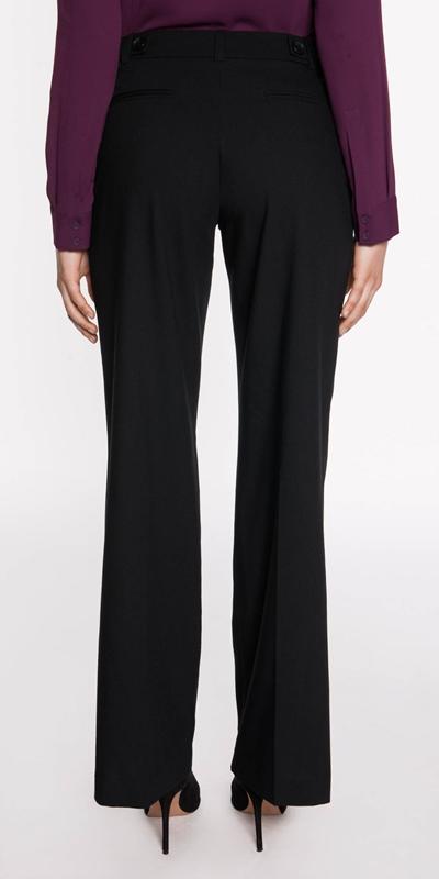 Pants | Button Tab Wide Leg Pant