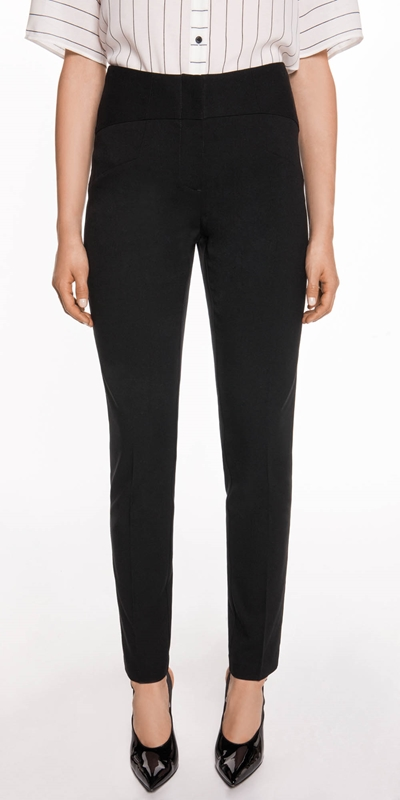 Pants  | High Waist Slim Leg Suit Pant