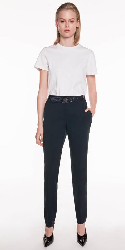 Pants | Twill Suit Slim Leg Pant