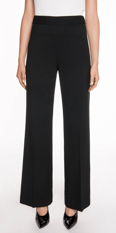 Pants  | Topstitched Wide Leg Pant