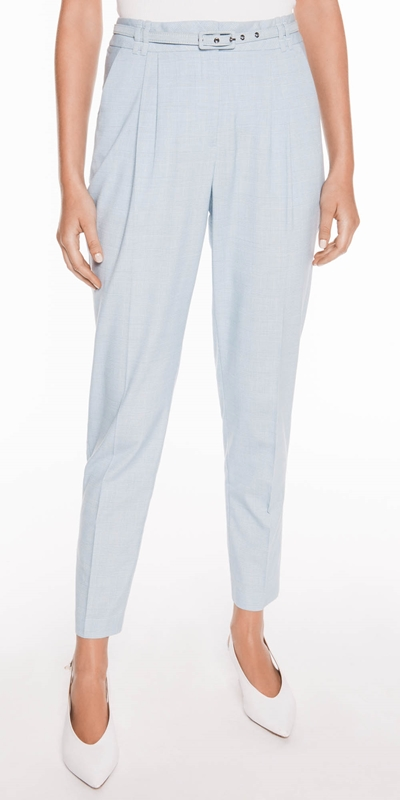 Pants  | Blue Check Tapered Pant