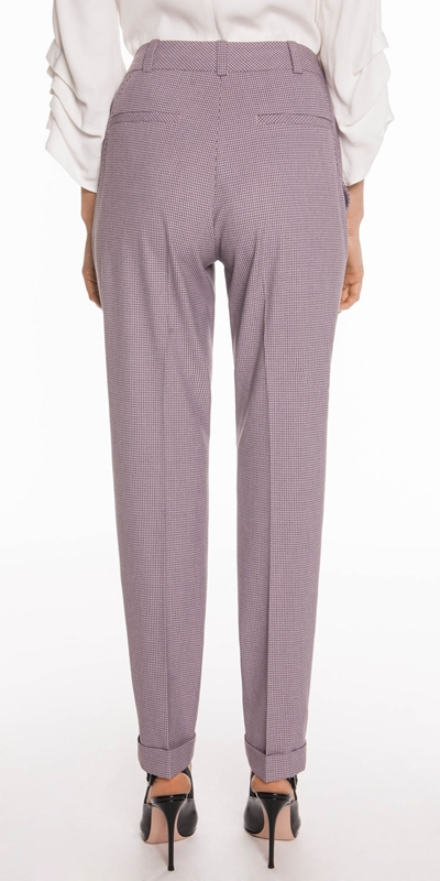 Pants | Cross Hatch Cuffed Pant