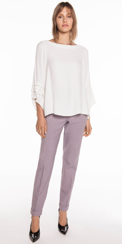 Wear to Work | Cross Hatch Cuffed Pant