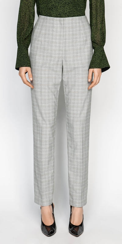 Pants  | Check Slim Leg Pant