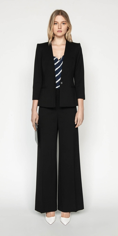 Outlet | Wide Leg Suit Pant