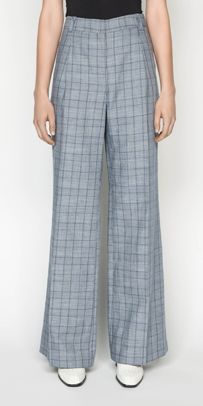 Sale  | Linen Houndstooth Pant