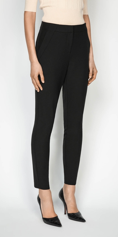 Pants  | Textured Twill Slim Leg Pant