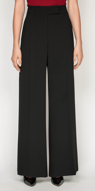 Sale  | Crepe Wide Leg Pant