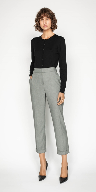 Pants | Birdseye Slim Leg Suit Pant