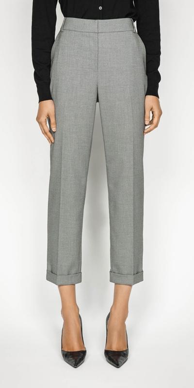 Pants  | Birdseye Slim Leg Suit Pant