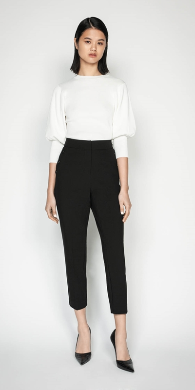 Wear to Work | Button Front Slim Leg Pant