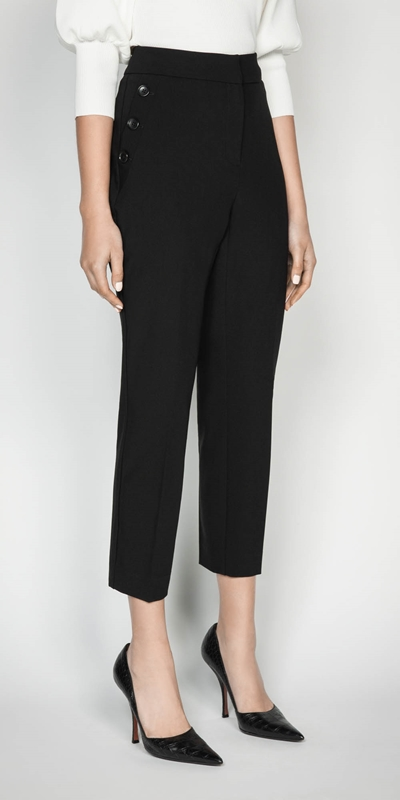 Sale  | Button Front Slim Leg Pant