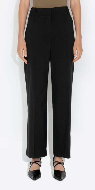 Cue Cares - Sustainable  | Eco Poly Viscose Wide Leg Suit Pant