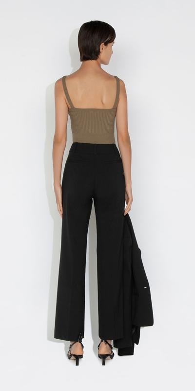 Pants | Eco Poly Viscose Wide Leg Suit Pant
