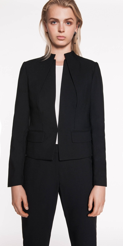 Wear to Work  | Funnel Neck Layered Jacket