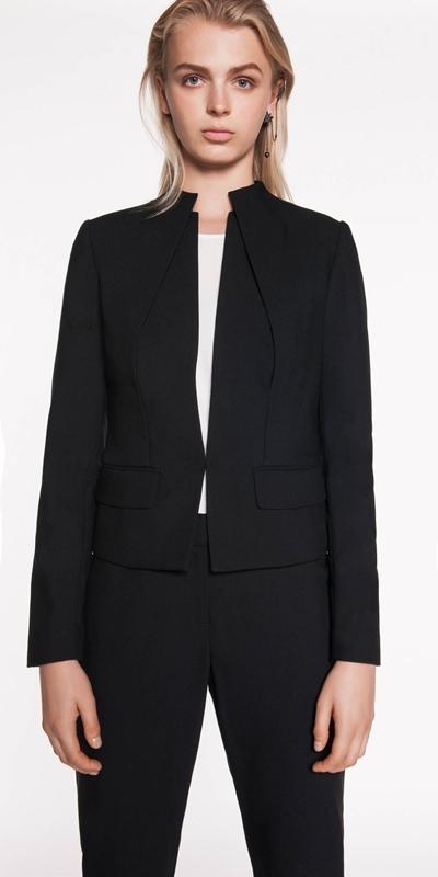 Jackets  | Funnel Neck Layered Jacket