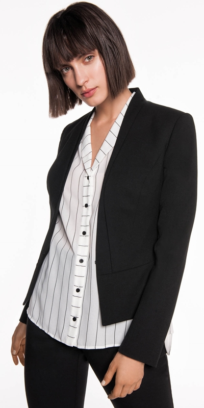 Jackets | Layered Raised Collar Suit Jacket