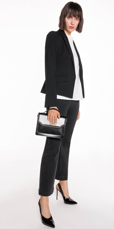 Jackets | Grosgrain Insert Suit Blazer