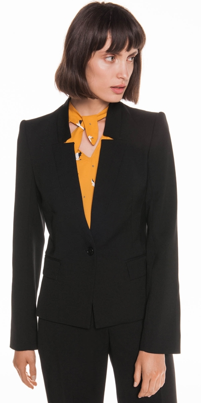 Jackets | Raised Collar Suit Blazer