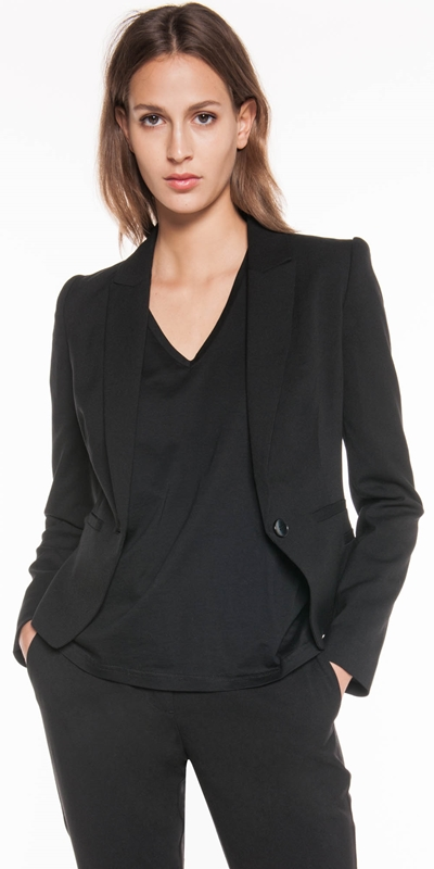 Jackets | One Button Suit Blazer