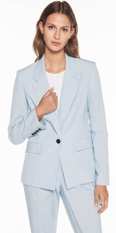 Jackets  | Blue Check Suit Jacket