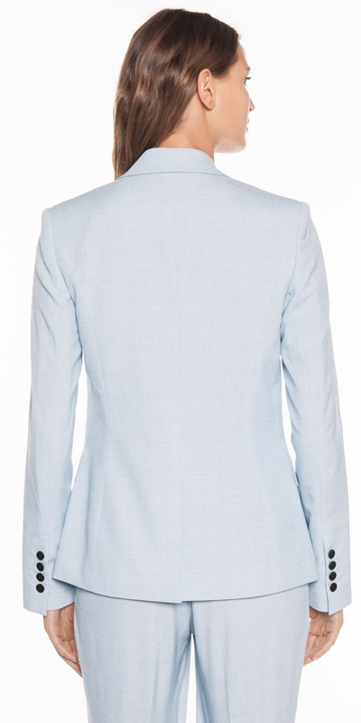Jackets | Blue Check Suit Jacket