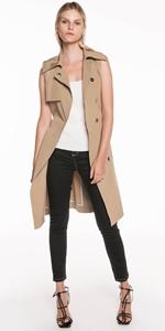 Jackets | Taupe Sleeveless Trench