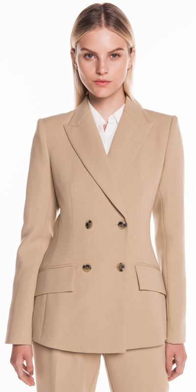 Wear to Work | Beige Double Breasted Jacket