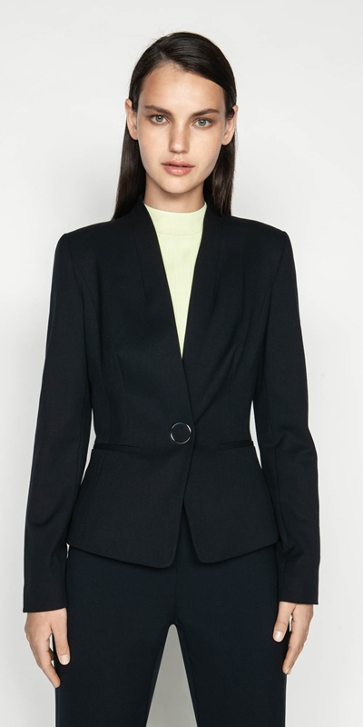 Jackets  | Ink Collarless Blazer