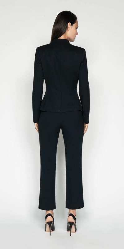 Jackets | Ink Collarless Blazer