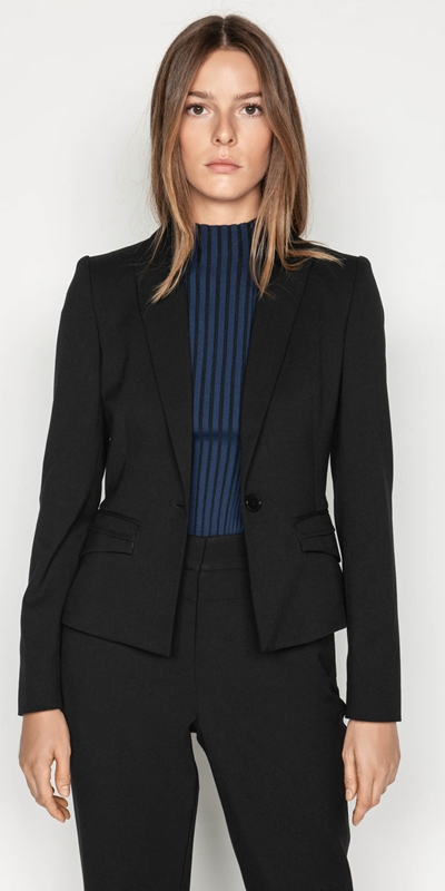 Jackets | Topstitched Suit Jacket