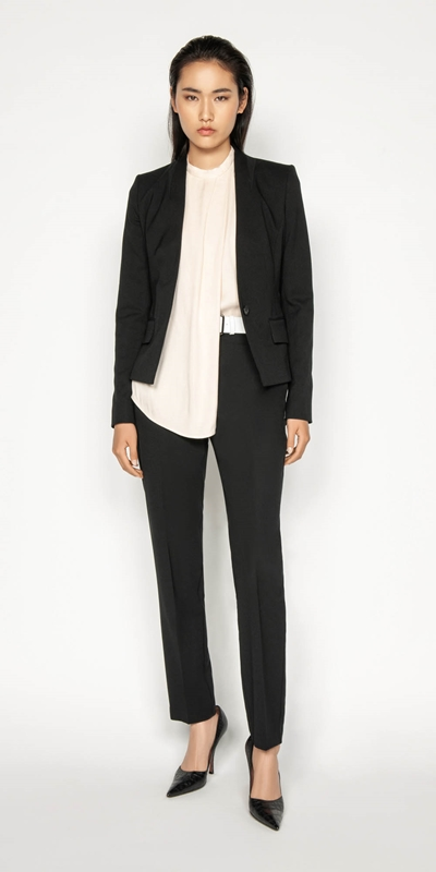 Sale | Raised Collar Suit Jacket