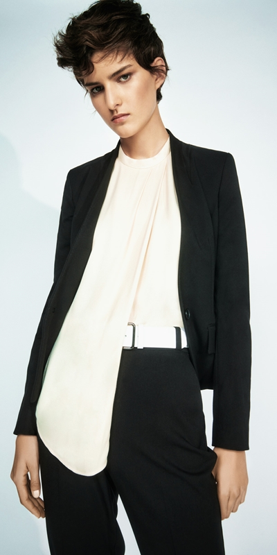 Wear to Work  | Raised Collar Suit Jacket