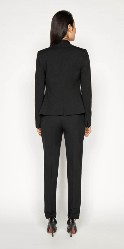 Jackets | Raised Collar Suit Jacket