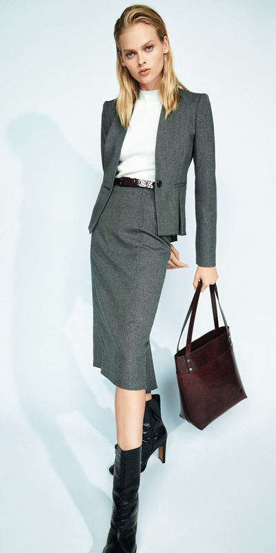 Wear to Work  | Melange Collarless Jacket