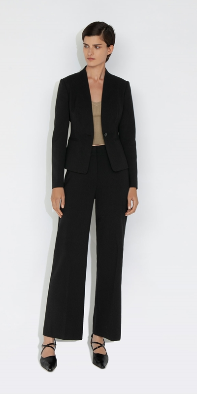 Cue Cares - Sustainable | Eco Poly Viscose Collarless Blazer