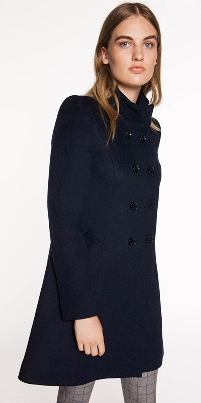Sale  | Stand Collar Pea Coat
