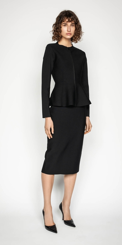 Wear to Work | Milano Zip Front Peplum Jacket