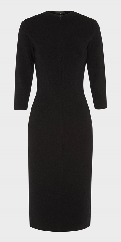 Work From Home | Milano Zip Front Pencil Dress