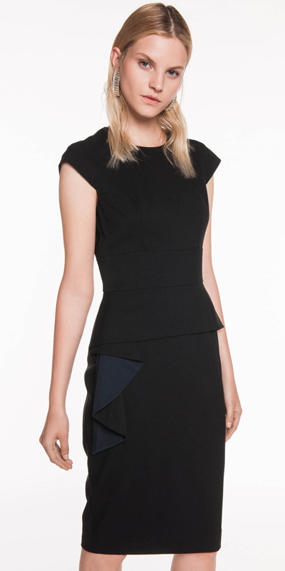 Dresses  | Asymmetric Frill Pencil Dress