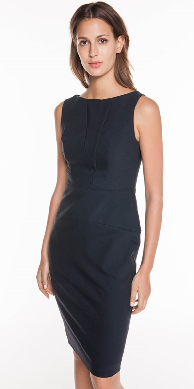 Wear to Work  | Ink Double Weave Panelled Dress