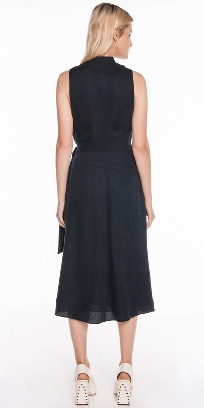 Dresses | Textured Tencel Wrap Dress