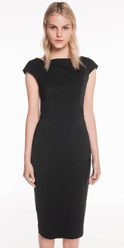 Dresses  | Asymmetric Faille Pencil Dress