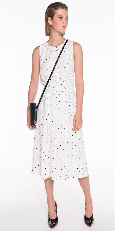 Dresses | Polka Spot Viscose Dress