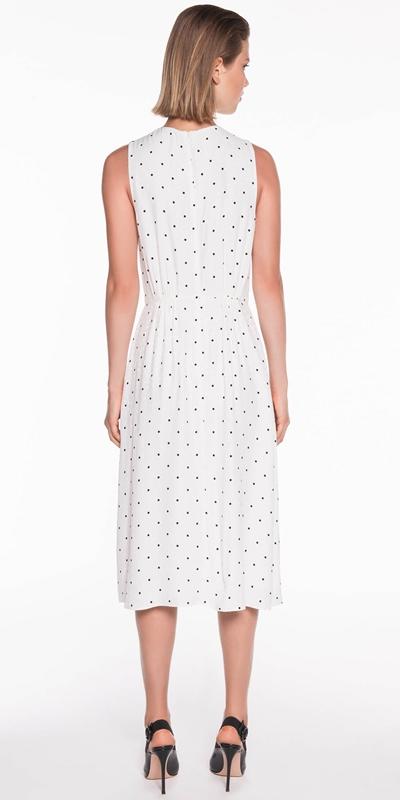 Dresses | Polka Spot Viscose Dress