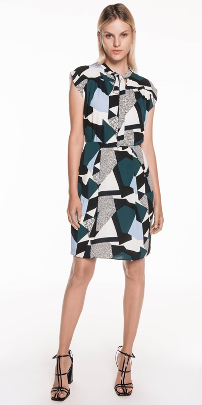 Dresses | Textured Geo Spot Dress